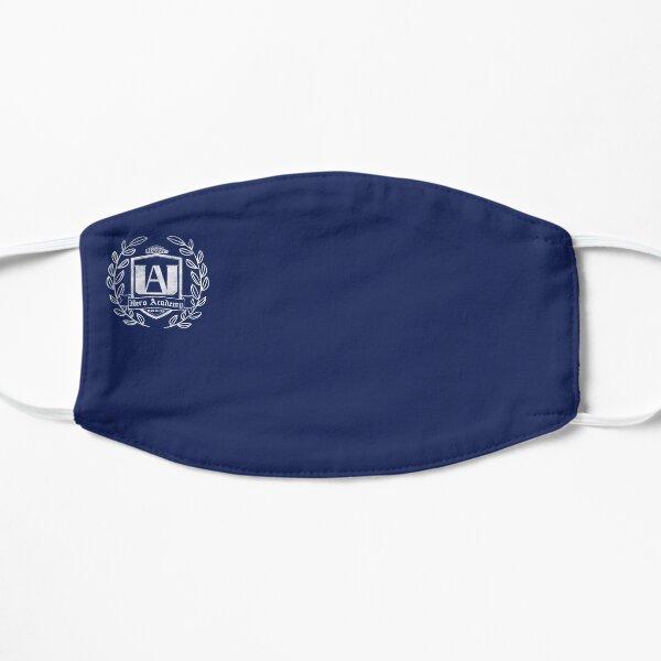 White UA High School Crest Blue Flat Mask
