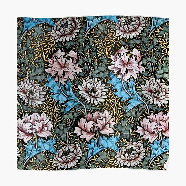 William Morris Chrysanthemums Poster