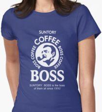 Suntory Boss Coffee Womens Fitted T-Shirt