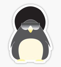 Afro Penguin  Sticker