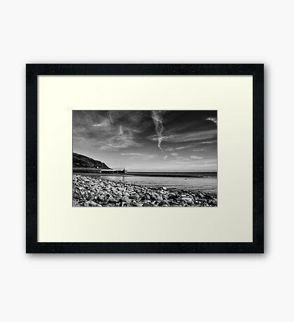 Laxey Beach on a Spring Afternoon Framed Print