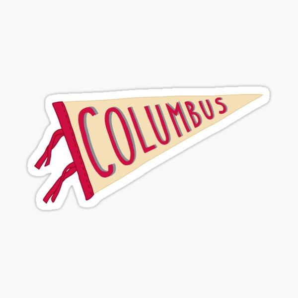 Vintage Columbus Pennant Flag Sticker