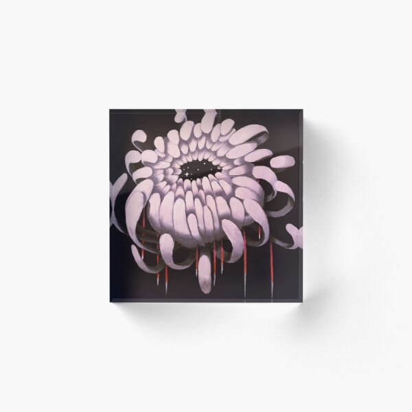 Chrysanthemum Acrylic Block