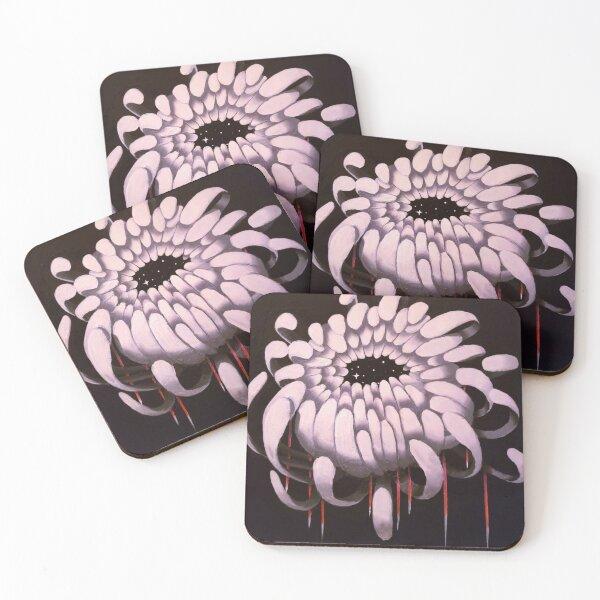 Chrysanthemum Coasters (Set of 4)