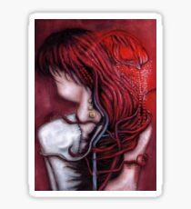 my heart soars like a blood red artifact Sticker