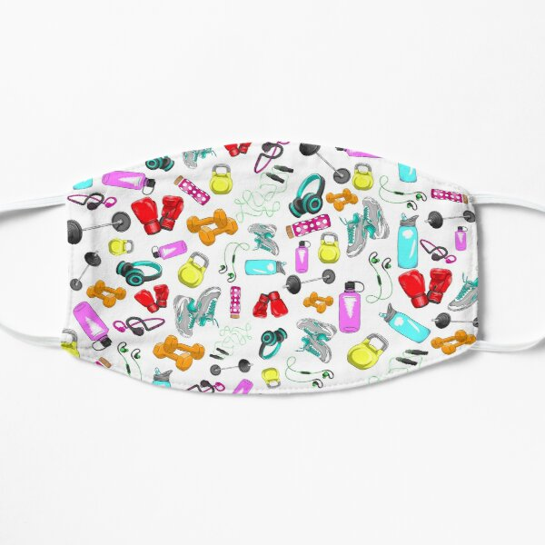 All Work Out Items Pattern Mask