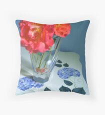 Cheering up the Blues Throw Pillow