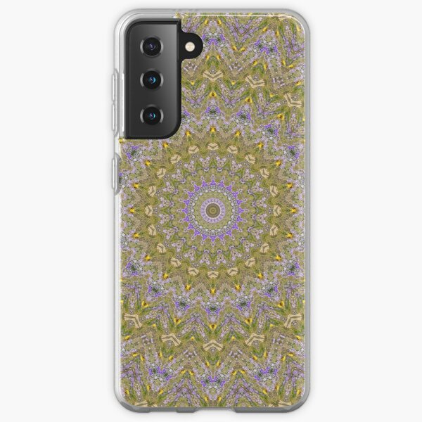 Mandala grain field with cornflowers and buttercups Samsung Galaxy Soft Case