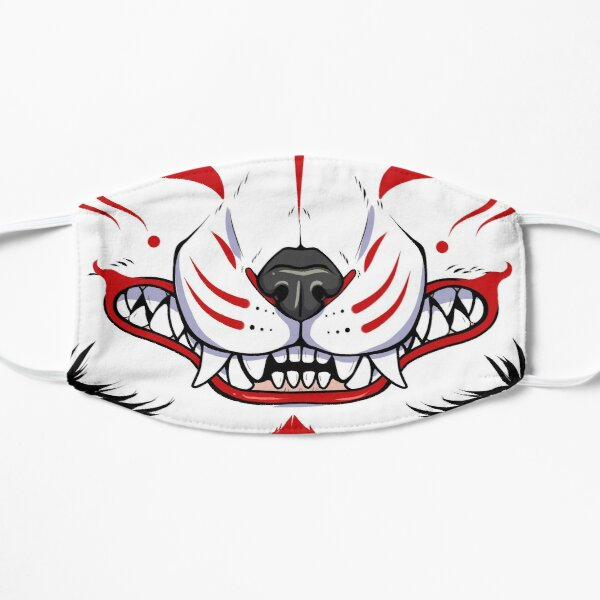 Kitsune Grin Flat Mask