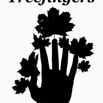 Kid A Series- Treefingers (Black) by boockly22