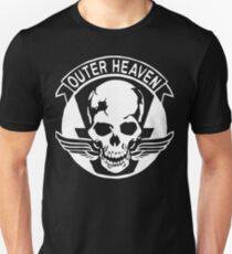Outer Haven Logo White Slim Fit T-Shirt