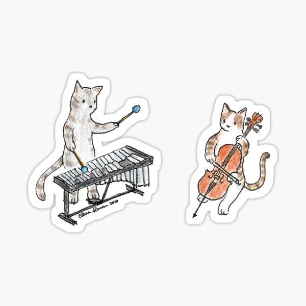 Meowtet: Vibraphone & Cello Duet Sticker