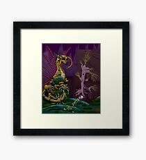 Insect Dragon on a Rock Framed Print