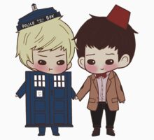 Merlin and Arthur as Eleven and the Tardis