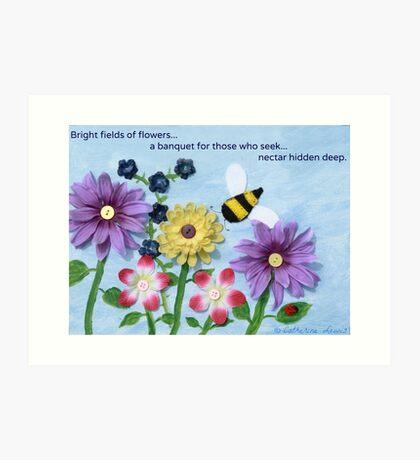 Fields of Flowers Art Print