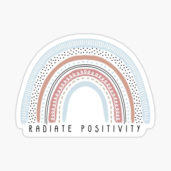 Radiate Positivity Rainbow Sticker