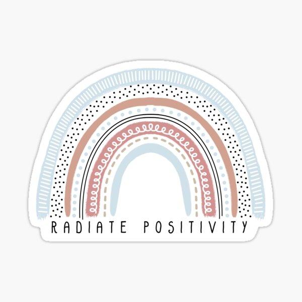 Radiate Positivity Rainbow Sticker