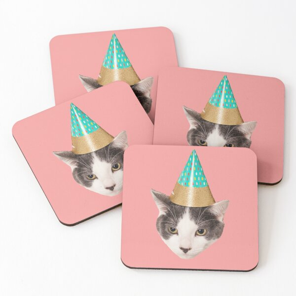 Personalised Geometrc Mother Of Cats Coaster Drinks Funny Novelty
