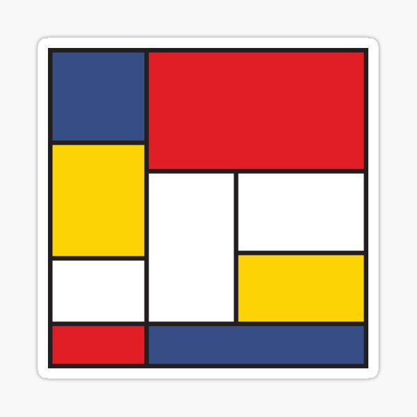 In the Style of Mondrian Sticker