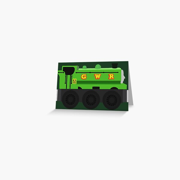 Duck - Wooden Train Toy Greeting Card