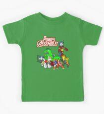 Ponies, assemble! Kids Tee