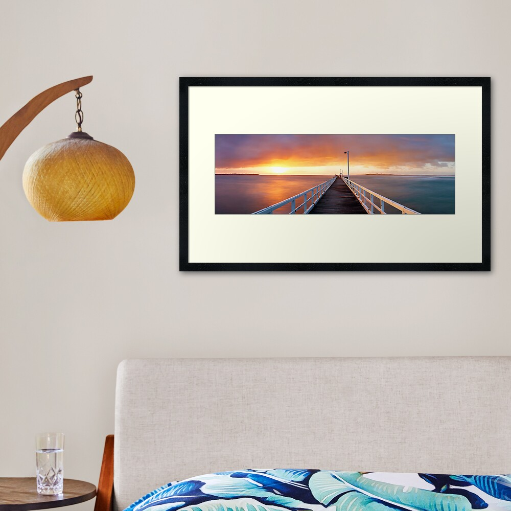 Point Lonsdale Pier, Victoria, Australia Framed Art Print