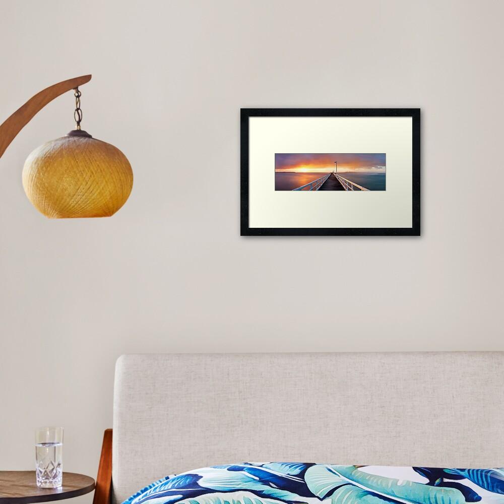 Point Lonsdale Pier, Victoria, Australia Framed Art Print