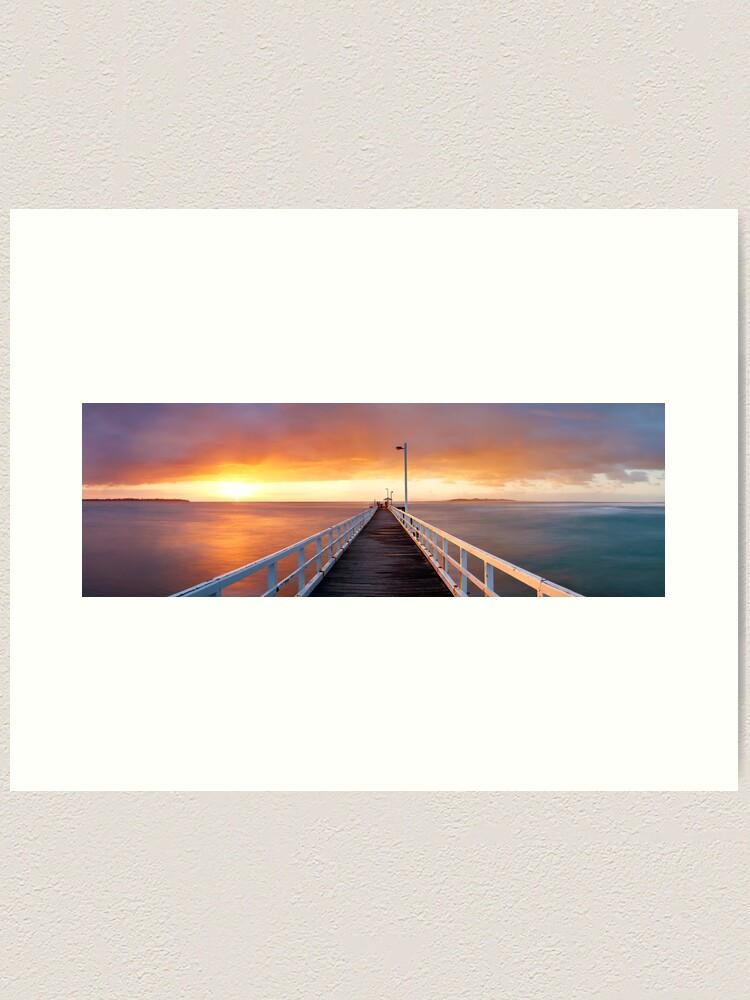 Alternate view of Point Lonsdale Pier, Victoria, Australia Art Print