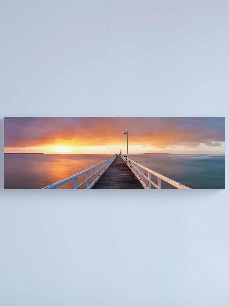 Alternate view of Point Lonsdale Pier, Victoria, Australia Canvas Print