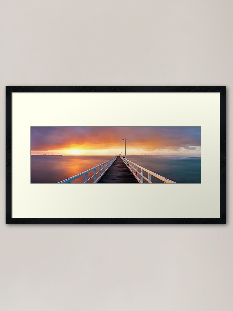 Alternate view of Point Lonsdale Pier, Victoria, Australia Framed Art Print