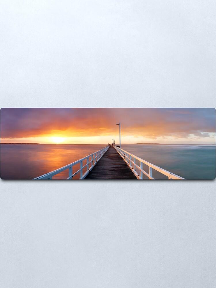 Alternate view of Point Lonsdale Pier, Victoria, Australia Metal Print