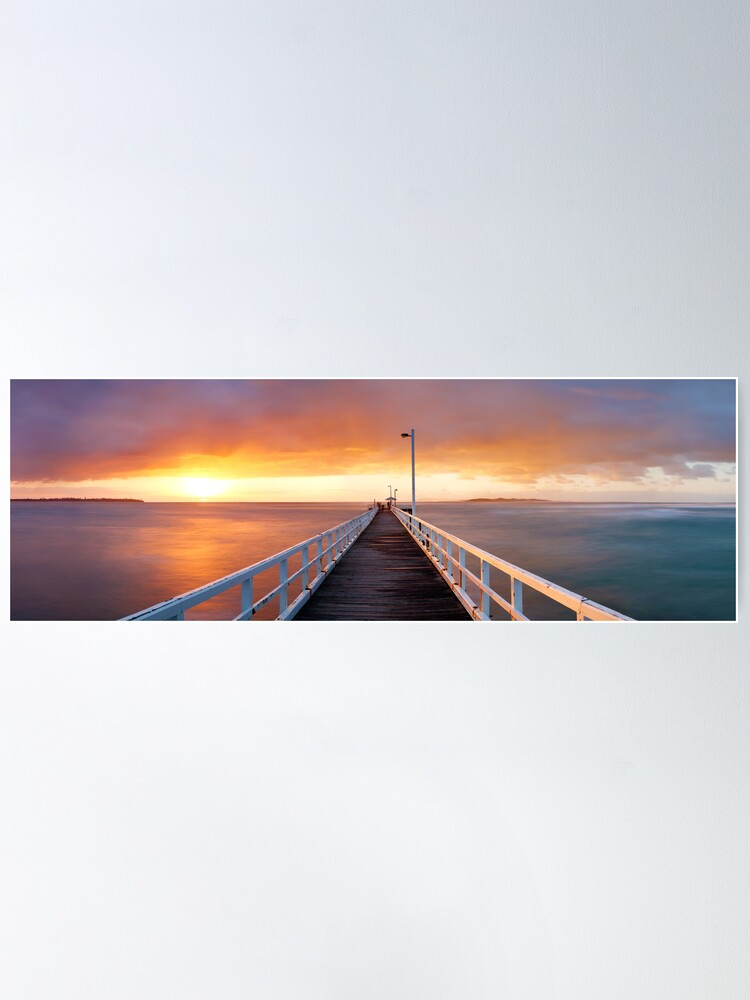 Alternate view of Point Lonsdale Pier, Victoria, Australia Poster