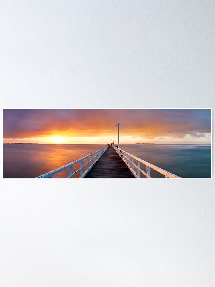 Alternate view of Point Lonsdale Pier, Victoria, Australia Poster