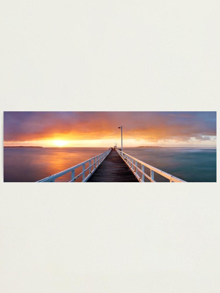Alternate view of Point Lonsdale Pier, Victoria, Australia Photographic Print