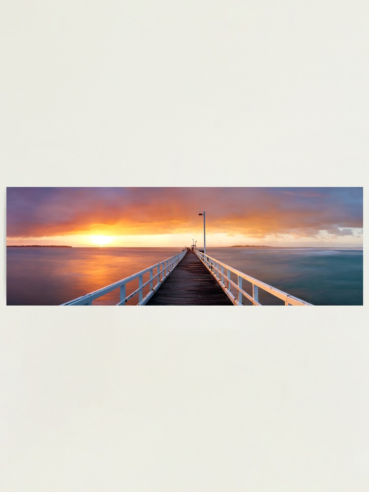 Alternate view of Point Lonsdale Pier, Victoria, Australia Photographic Print