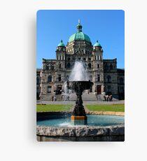 Victoria - The Legislature & Fountain Canvas Print