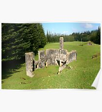 Ruins of the Second Watermill, Arthur's Vale, Norfolk Island Poster