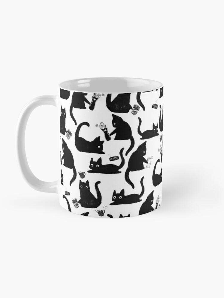 Alternate view of Bad Cats Knocking Stuff Over Mug