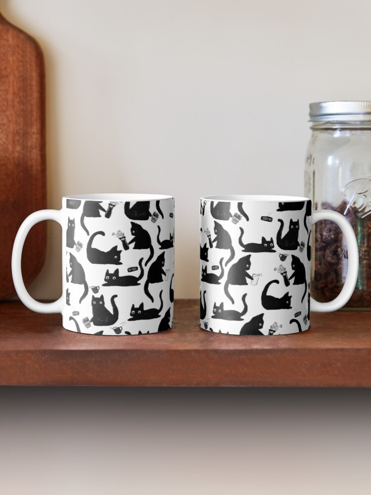 Alternate view of Bad Cats Knocking Stuff Over Mug