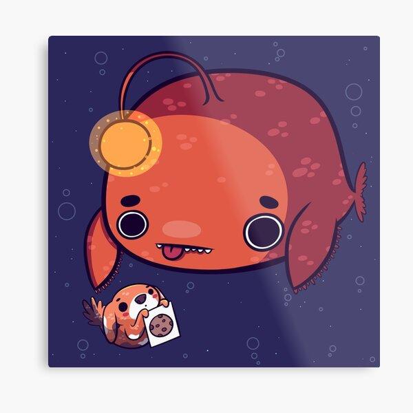 Pupperfish & Anglerfish Metal Print