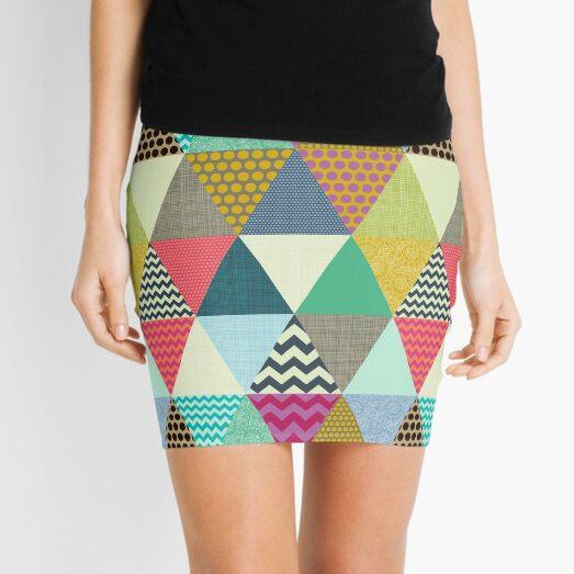 New York Beauty triangles Mini Skirt