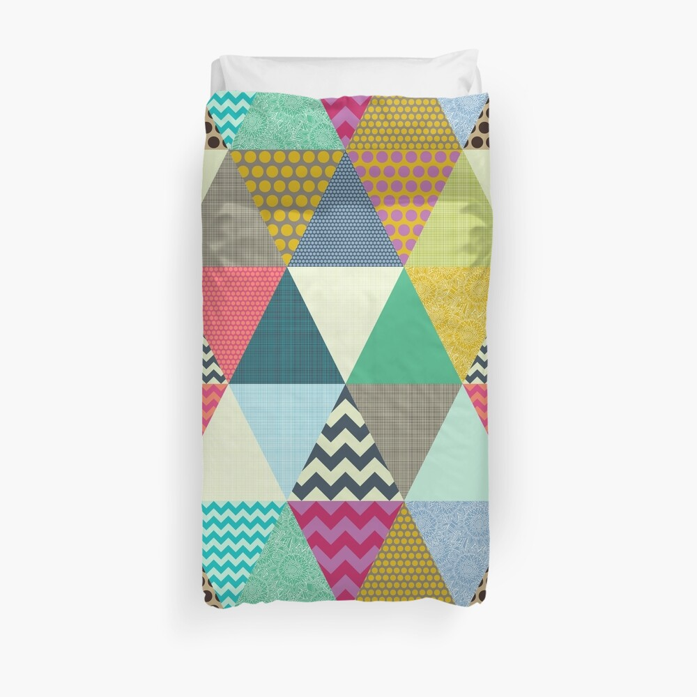 New York Beauty triangles Duvet Cover