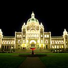 Victoria - The Legislature on a Spring Evening by rsangsterkelly