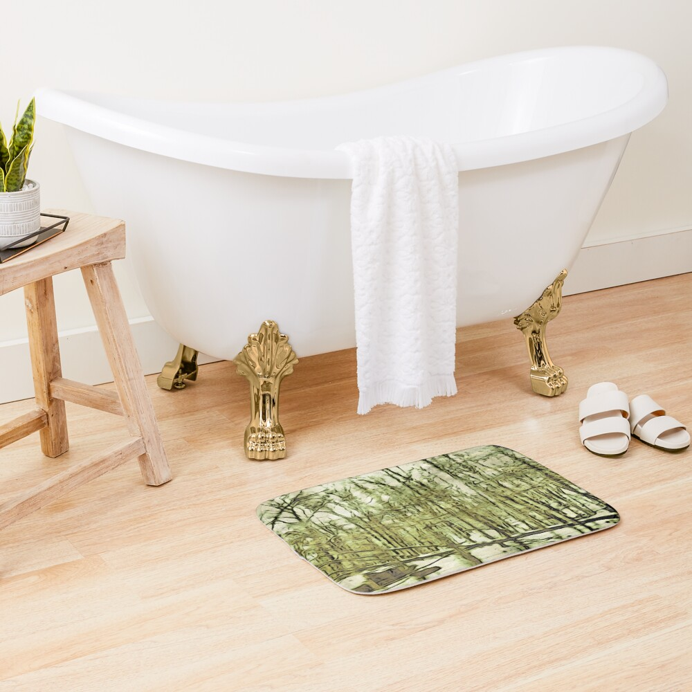 Nature Lovers Gift - Into the Woods Part Deux - Neutral Colors Decor Bath Mat
