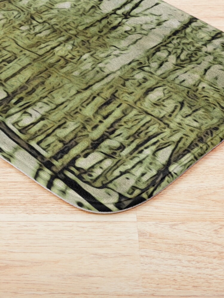 Alternate view of Nature Lovers Gift - Into the Woods Part Deux - Neutral Colors Decor Bath Mat