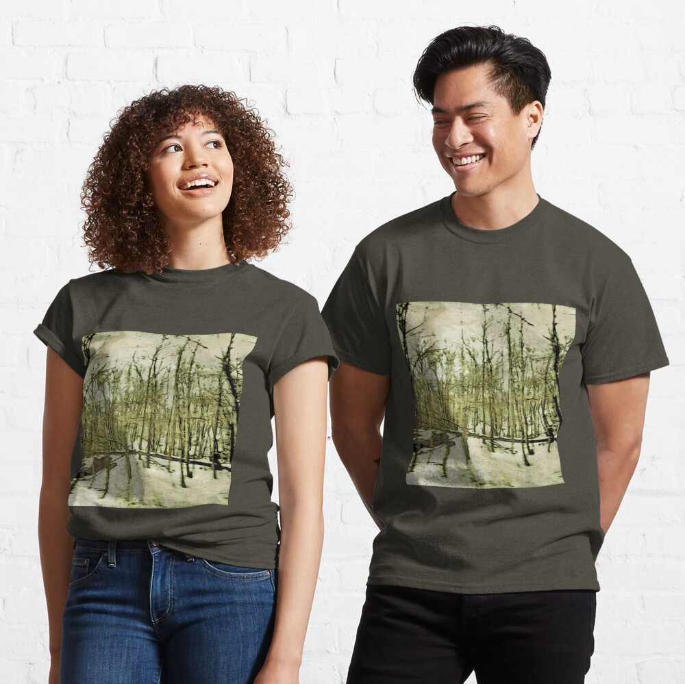 Nature Lovers Gift - Into the Woods Part Deux - Neutral Colors Decor Classic T-Shirt