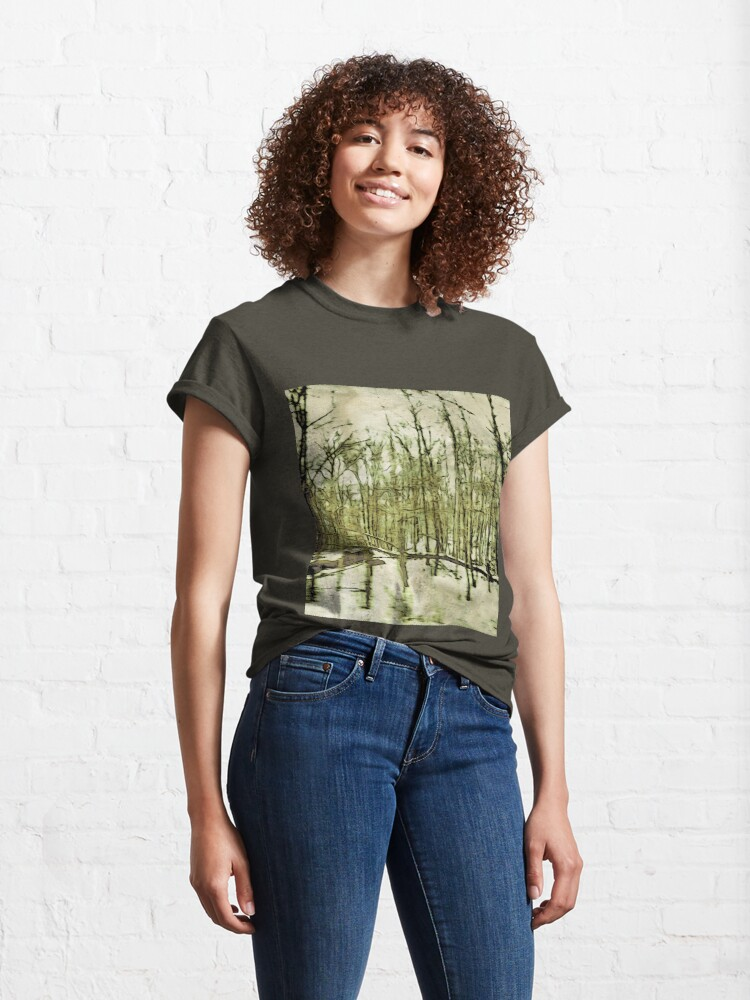 Alternate view of Nature Lovers Gift - Into the Woods Part Deux - Neutral Colors Decor Classic T-Shirt