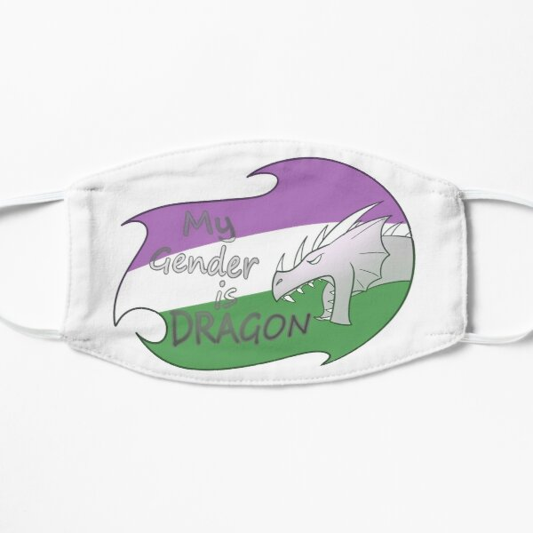 My Gender is DRAGON: Genderqueer Flat Mask