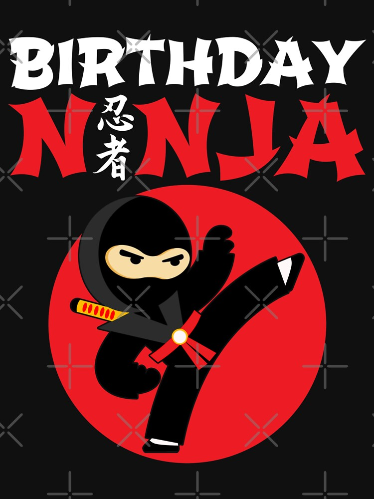Kids Ninja Birthday Party Theme Gift for Boys - Birthday Ninja by teemixer