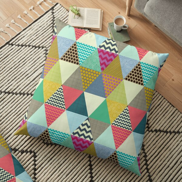New York Beauty triangles Floor Pillow